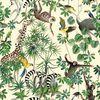 La jungle des animaux fond crème