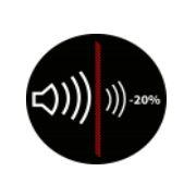 Propriétés acoustiques: Abaisse le débit sonore de 20%