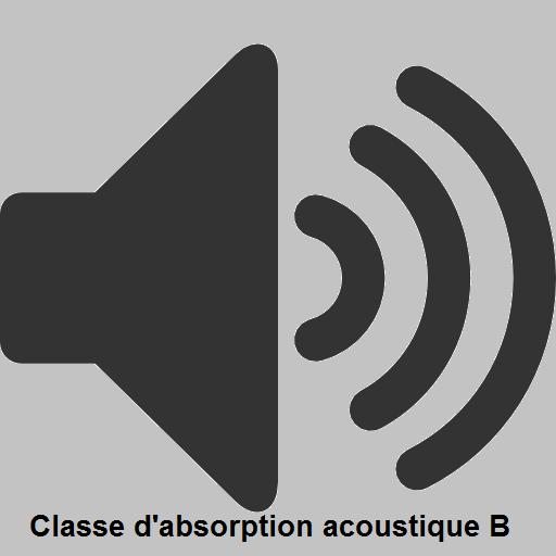 Propriétés acoustiques: Classe d'absorption acoustique B (ISO 11654)