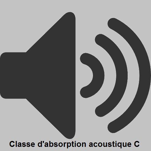 eee: Classe d'absorption acoustique C (ISO 11654)