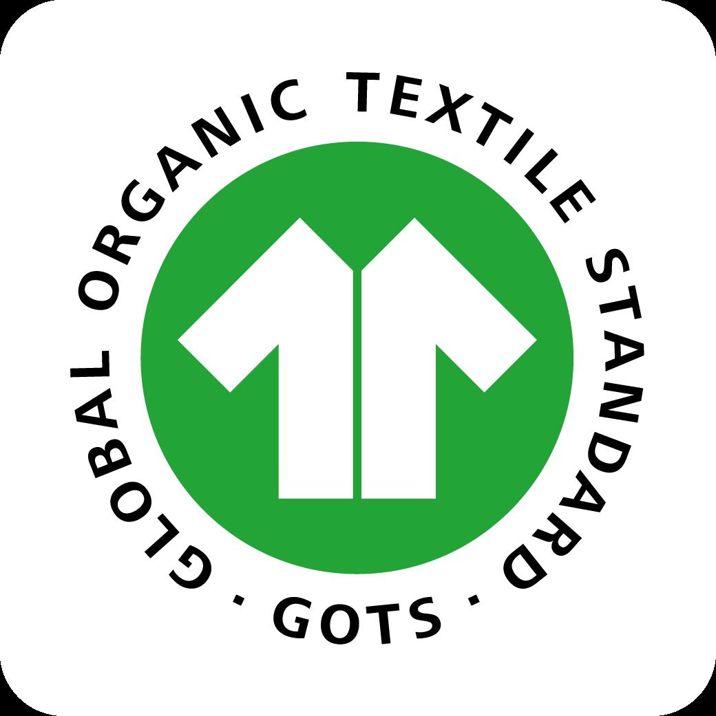 Textiles biologiques: Nos tissus sont certifiés 100% coton bio GOTS (Global Organic Textile Standard) pour un plus grand respect de l'environnement. Tissus composés de fibres biologiques avec interdiction d'utilisation de produits dangereux.