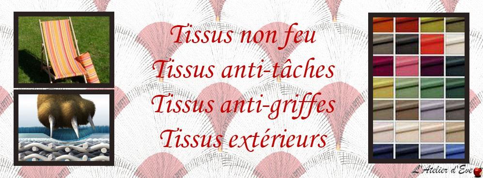 Tissus non feu, anti-tâches, anti-griffes