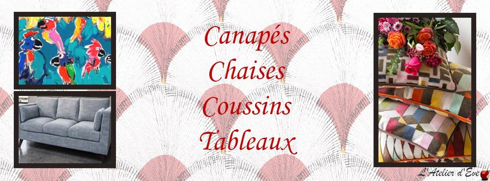 Canapés, Chaises, Plaids, Tableaux