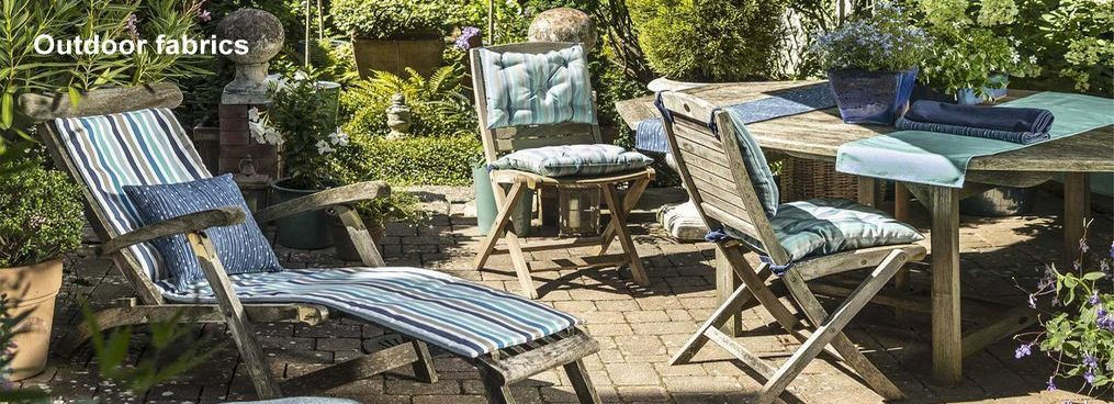 Outdoor fabrics, deckchairs by the meter or made to measure