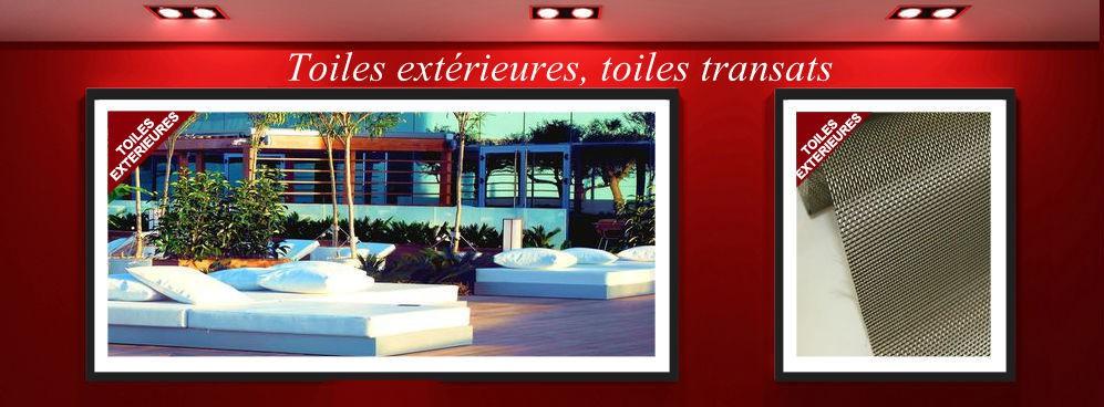Toiles extérieures pour jardin, toile transat sur mesure ou au mètre
