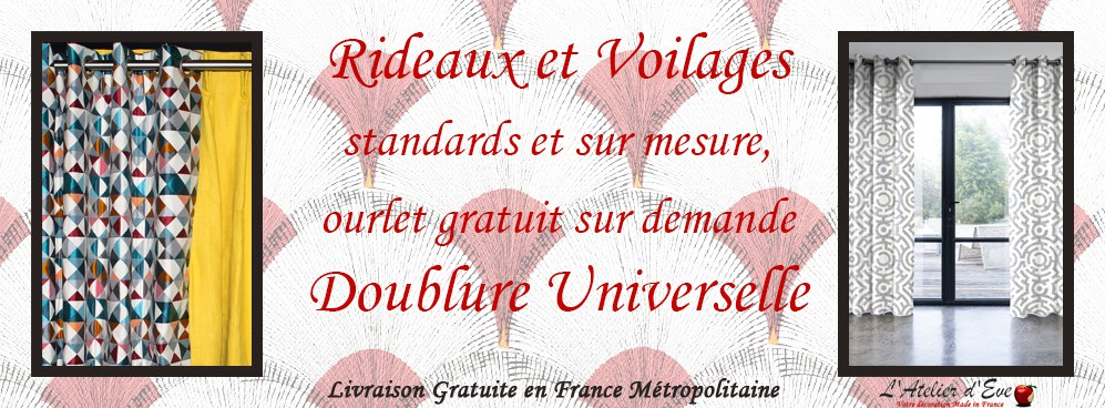 Rideaux, Voilage, Doublure Universelle